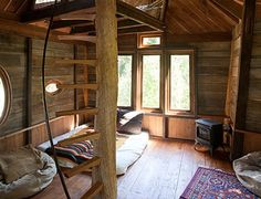 Magical indoors of a tree house - take me here for an adventure :)