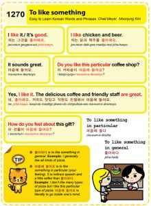 Easy to Learn Korean 1270 - To like something.