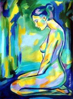 """Saatchi Art Artist: Helena Wierzbicki; Acrylic 2013 Painting """"""""Gilded glow"""""""""""