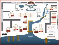 Patterson Kaye Resort Map - Patterson Kaye Resort - Waterfront Cottage Rentals - Lake Muskoka Waterfront Cottage, Beach Road, Lush Garden, Playground, Cottage Rentals, Floor Plans, Map, Cottages, House