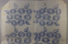 Bunches of Daisies - Vintage Iron-on Embroidery Transfer by TheVintageSewingB on Etsy