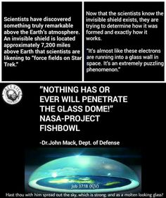 Flat Earth shielded by the  Dome above