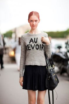 labellefabuleuse:    Model off-duty streetstyle after Giambattista Valli Haute Couture, Fall 2012