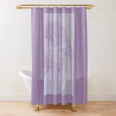 Ink Plum Blooms Trunk Print Waterproof Fabric Shower Curtain 180CM Set Sheer Mat