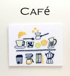『カフェ』刺繍パネルキット | net store ~アンナとラパン