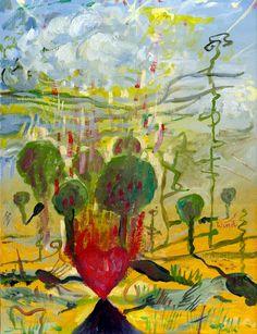 Schönheit und Schmerzen der Liebe (Piękno i ból miłości), 1997 by J.G.Wind - Oil Painting / Pittura metafisica / Neo metaphysical art