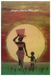 Into The African Sun by Angela Charles Mixed Art