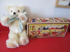 Antique 1930 KNICKERBOCKER JOINTED TEDDY BEAR Mint & in ORIGINAL BOX  NR #KNICKERBOCKER