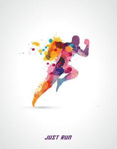 Just Run 3 sizes posters Printable art by printablegoods on Etsy