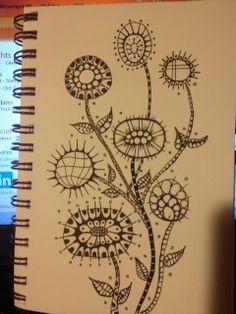Zentangle Flowers!!