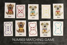 Preschool Number Matching Game - seven thirty three