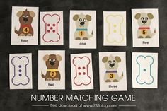 Preschool Number Matching Game - seven thirty three