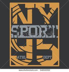 Athletic sport typography, t-shirt graphics, Creative design, .