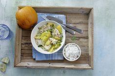 Kürbis, Kabeljau und Kokosmilch: pfiffiges Herbst-Rezept #rezepte #kochen