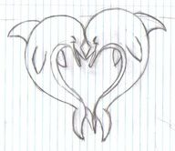 I'm still on a quest for a heart shaped dolphin tattoo to put my 2 daughters name on. Not sold on this one but it's a start.