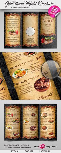Modern Food Menu Template AI, PSD Best Food Menu Templates - free food menu template