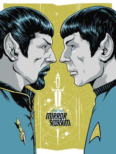 "kogaionon: "" Star Trek: Mirror Mirror by Ghoulish Gary Pullin / Facebook / Twitter / Tumblr / Instagram / Store 18"" x 24"" screen print with metallic inks, signed edition of 150. Available here. """