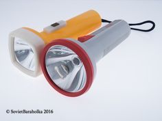 Flashlight Electric Lantern , LOT 2 Vintage Flashlight 3 volt , Soviet Flashlight Flash , Russian Lantern , Russian flashlight , Torch
