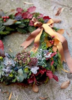 There is a rhythm inside a year of time, like a great mainspring that keeps it ticking from spring to summer to fall to winter. Wreaths And Garlands, Xmas Wreaths, Wreaths For Front Door, Door Wreaths, Autumn Wreaths, Autumn Garden, Autumn Home, How To Make Wreaths, Decoration
