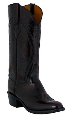 Lucchese Classics Men's European Goat Exotic Western Boots - Black Cherry | Cavender's