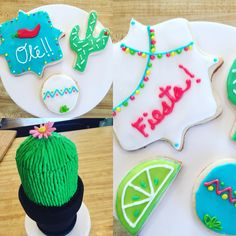 A Fiesta first birthday! Complete with cactus smash cake and Fiesta sugar cookies!