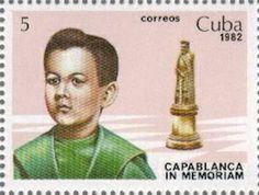 Jose Raul Capablanca  auf kubanischer Briefmarke von 1982