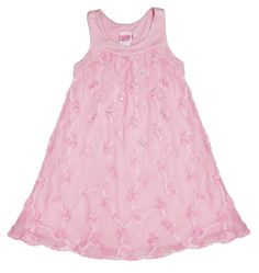 Lipstik Girls Pearls and Swirls Pink Dress