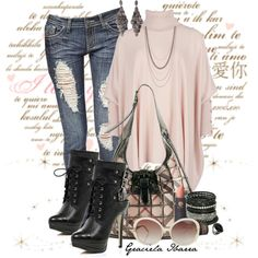 """Lace up boots"" by grachy on Polyvore"