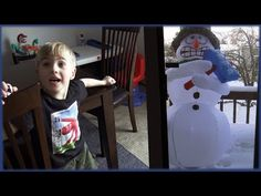 Max Finally Got A Shivering Snowman Inflatable! Circus Maximus, Winter Christmas, Home Depot, Snowman, Make It Yourself, Videos, Youtube, Fun