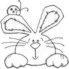 Riscos e Desenhos | Páscoa – Desenhos de Coelhinhos