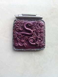 Pendant fantasy style with mica powders Polymer Clay Creations, Fantasy, Pendant, Style, Swag, Hang Tags, Pendants, Fantasy Books, Fantasia