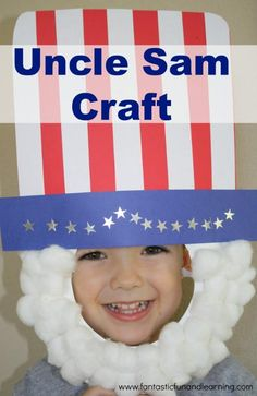 Uncle Sam Craft for President's Day, other patriotic holidays and pretend play