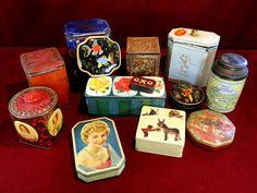 8) Box of vintage advertising tins Est. £10-£15