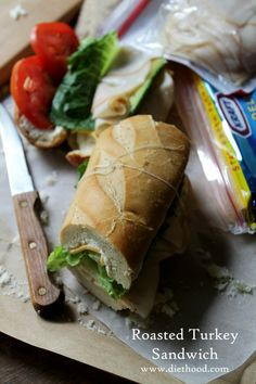 Roasted Turkey Sandwich with Cheese and Avocado