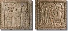 Klanění tří králů (Ratchisův oltář) - keltské prvky a ornamenty