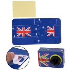 UK Flag Sticker Skin Protector Case For Camcorder XiaoMi Yi Action Sport Camera #UnbrandedGeneric