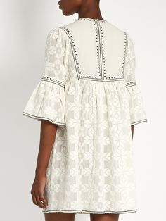Diamond-embroidered cotton dress | Talitha | MATCHESFASHION.COM
