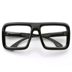 5cf8b062d5d New Vintage Indie Large Hipster Block Thick Square Frame Clear Lens Glasses  8548