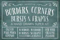 Borders, Corners & Frames Super Kit by @calliegirlcsu