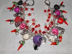 Day of the DEAD Charm Bracelet Art Jewelry Frida by MelancholyMind