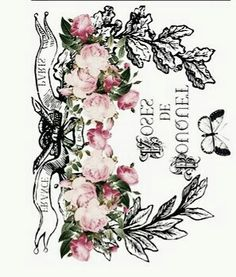 Shabby Vintage, Vintage Roses, French Vintage, Antique Pictures, Shabby Chic Crafts, Photo Transfer, Graphics Fairy, Vintage Couture, Butterfly Print