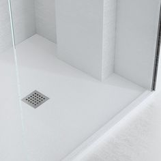 Superieur A Pure White Silex Custom Made To Measure Shower Tray With Slate Effect  Textured Finish And