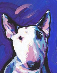 Available at Red Bubble is this art print by titled Bull Terrier Dog Bright colorful pop dog art. Dog Pop Art, Dog Art, Bull Terrier Funny, Bull Terriers, Dog Paintings, Original Paintings, Colorful Animals, Happy Art, Dog Portraits