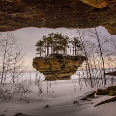 We're always blown away by #TurnipRock in #PortAustin! This unique view comes from @kbernock. Thanks for letting us share this #PureMichigan marvel.