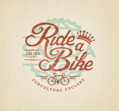 Sub Culture Cyclery by Jared Jacob Typography Letters, Typography Logo, Typography Design, Branding Design, Logo Design, Graphic Design, Types Of Lettering, Hand Lettering, Hipster Design