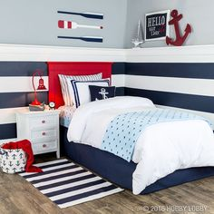 Your favorite little sailor will love anchoring down in this nautical nook!