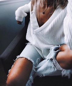 ribbed sweater + one teaspoon jeans