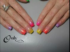 Colourful Summer Tips
