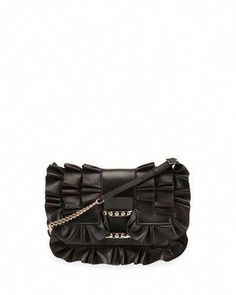 2284f01b62 Shop viv micro frilly leather shoulder bag black from Roger Vivier in our  fashion directory.