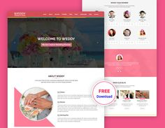 Free Website Templates, Psd Templates, Creative Design, Wedding Planner, Elegant, Business, Modern, Wedding Planer, Classy